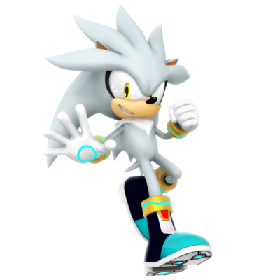 Sonic Games Silver the Hedgehog (Render)