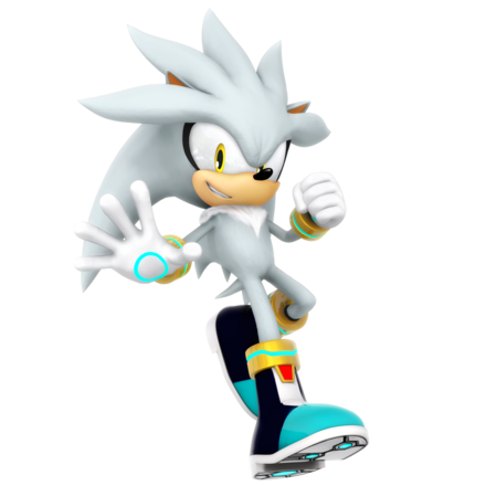 Sonic Games Silver the Hedgehog (Render)