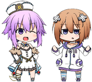 Chibi Neptune And Blanc Render 2