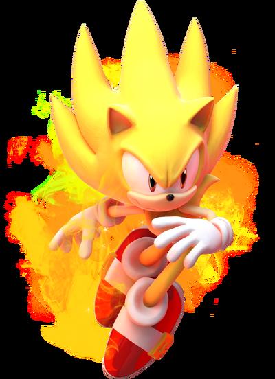 Sonic Games Super Sonic (Render)