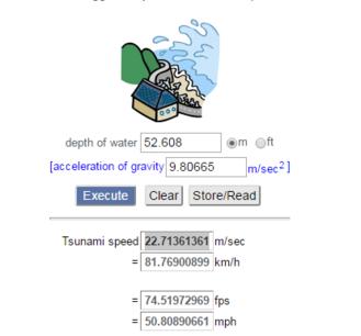 Tidal Wave Speed2