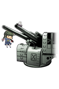 12.7cm gun mount
