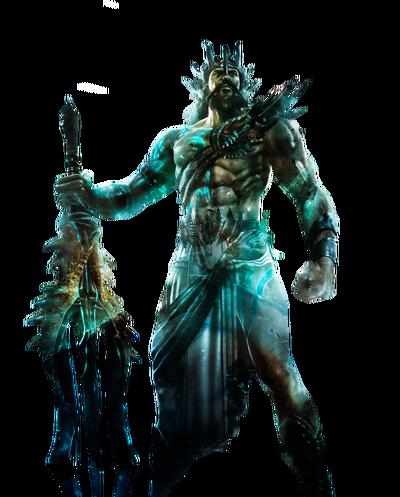 Poseidon god of war by ja renders-d8k9v8w