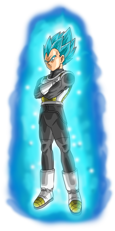 Vegeta super saiyan blue aura by frost z-d9xlk2k