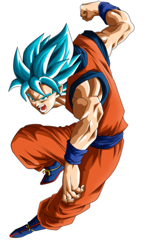 Goku SSGSS render