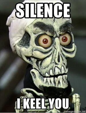 Silence-i-keel-you