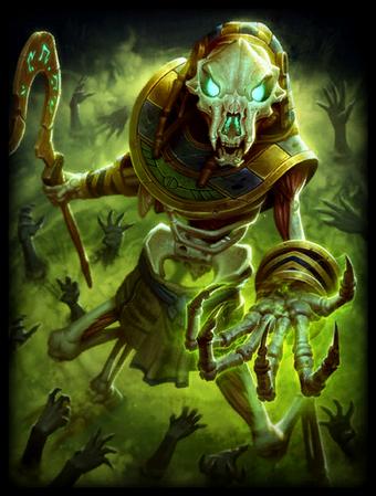 T Anubis Skeletal Card