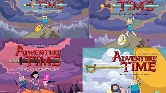 All Adventure Time - 5 Different Theme Songs Openings