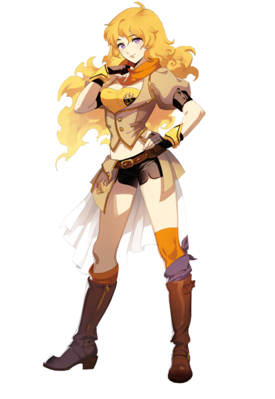 Yang xiao long rwby yellow render by andreogami5-d7zcul7