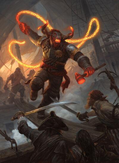 Angrath-Minotaur-Pirate-Rivals-of-Ixalan-MtG-Art