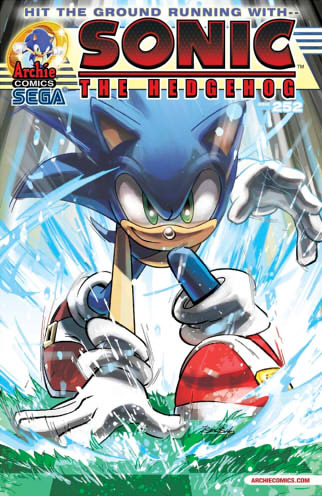 Sonic The Hedgehog Issue 252 cover