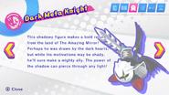 Dark Meta Knight's second pause description in Kirby Star Allies