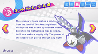 Dark Meta Knight's second pause description in Kirby Star Allies