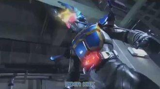 Kamen Rider Gatack Firsy Henshin and Fight