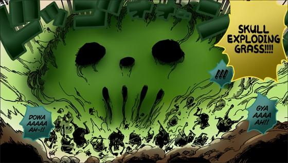 Skull Exploding Grass