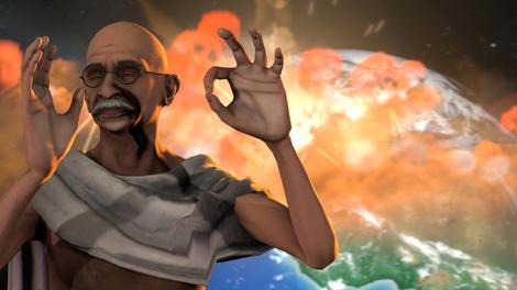 Gandhi goes nuclear by daitomo
