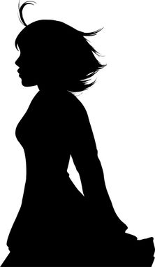 Silhouette girl by yosha