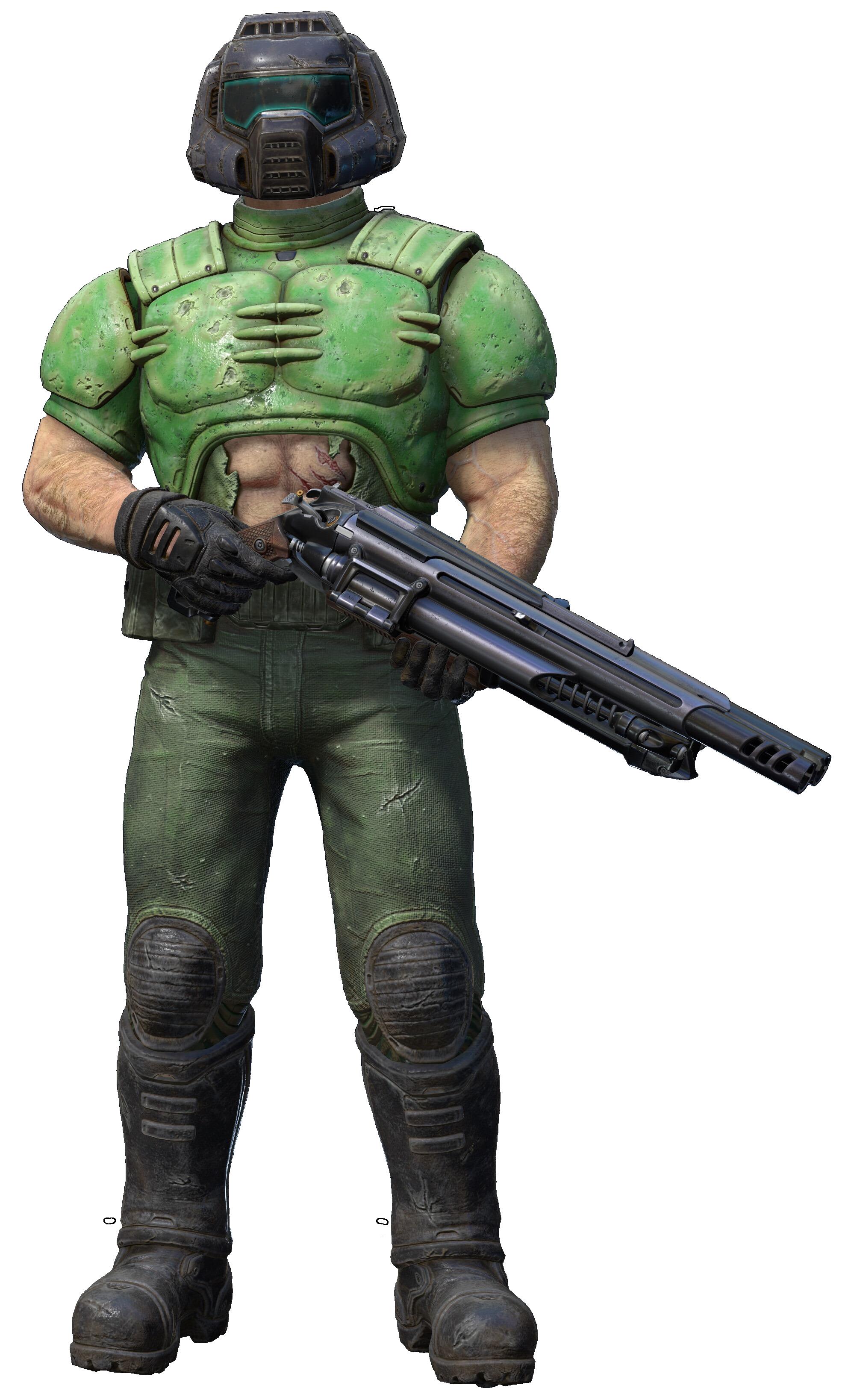 Quake Champions - Doom Slayer (DOOMGUY skin) Minecraft Skin