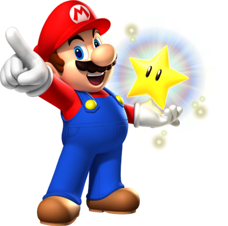 MP9 Mario and Glowing Star Artwork