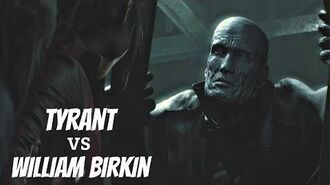 Resident Evil 2 Remake 2019 - Death of Tyrant Cutscene (Mr X vs William Birkin)