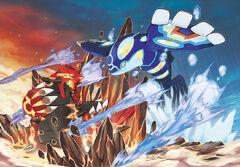 Pokémon-Omega-Ruby-Alpha-Sapphire-Concept-Art-Battle-Primal-Groudon-Kyogre-72