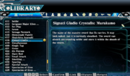 Signati Gladio Crystalis Murakumo