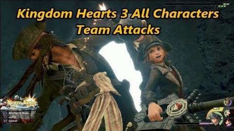 Kingdom Hearts 3 All Characters Team Attacks