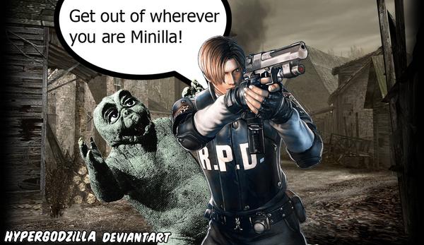 Leon y Minilla lol
