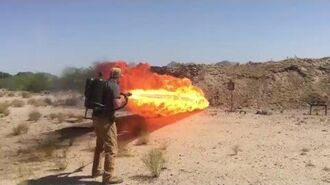 Flamethrower Test- Polymer AR15 Receiver