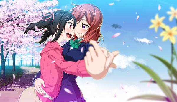 Love-live-yazawa-nico-nishikino-maki-dancing-sakura-blossom-anime-10436