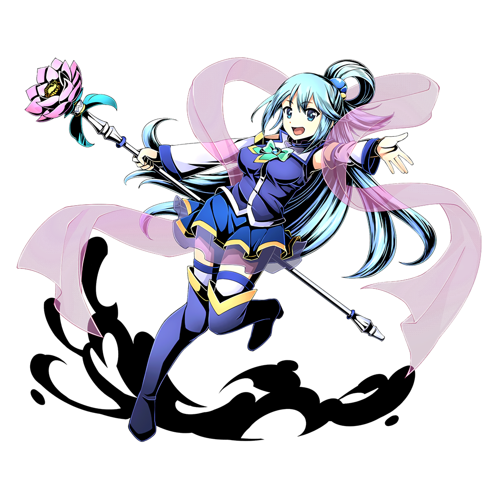 Image result for konosuba aqua with staff