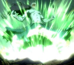 Gajeel releasing his power