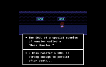 A Boss Monster's SOUL is strong enough to perist after death