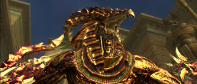 Golden Azazel Tekken