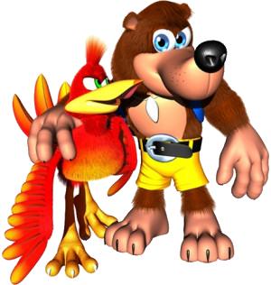 Banjo and Kazooie render