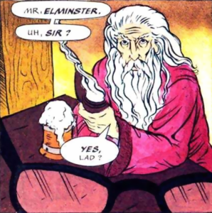 Forgotten Realms - Elminster Aumar as he appears in the comics
