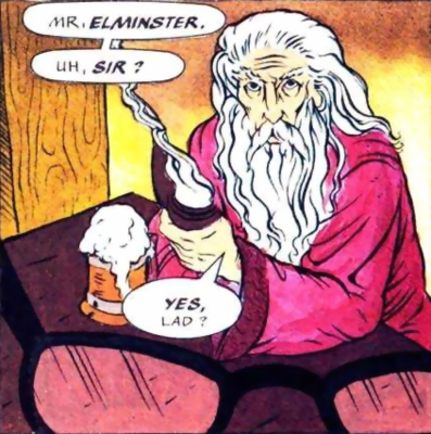 Forgotten Realms - Elminster Aumar as he appears in the comics