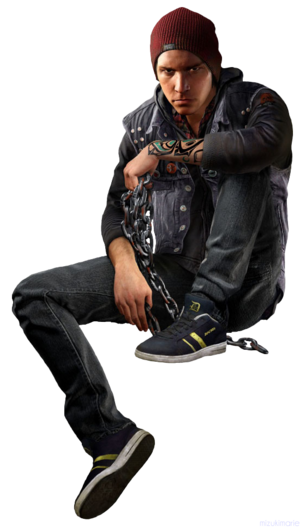Infamous second son delsin rowe render cutout 2 by mizukimarie-d74dhq1