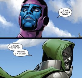 Doom tells Kang that he perhaps is his father-Doctor Doom 2019