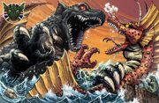 Mama gorgo vs titanosaurus for uk kaiju convention by kaijusamurai dciggvm-fullview