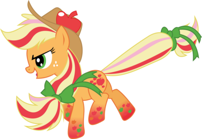 Rainbow power applejack by whizzball2-d7i1rtq