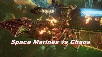 Space Marines vs Chaos! Rank 124, Heroic Difficulty, 1500 Points - Battlefleet Gothic Armada