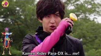 Kamen Rider Para-DX Henshin and Form