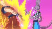 Beerus flicks Goku