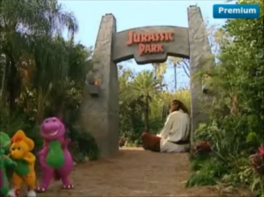 Barney is to Jurassic Park what Donkey Kong is to Mario