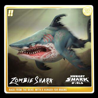 Zombie Megalodon Shark Tank Card