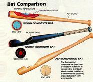 Baseball baum bat drawing