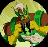 Kickin hawk logo