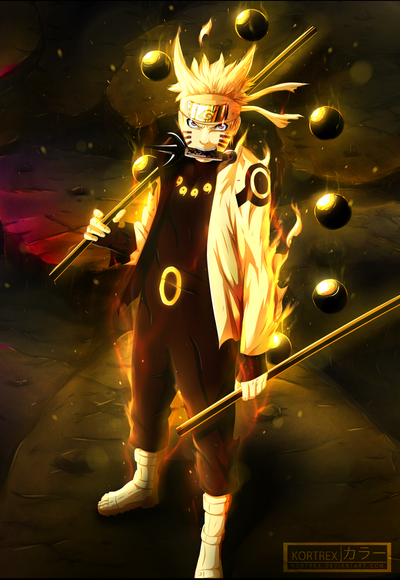 Naruto with Asura power