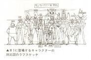 Cutie Honey OVA Height Comparison